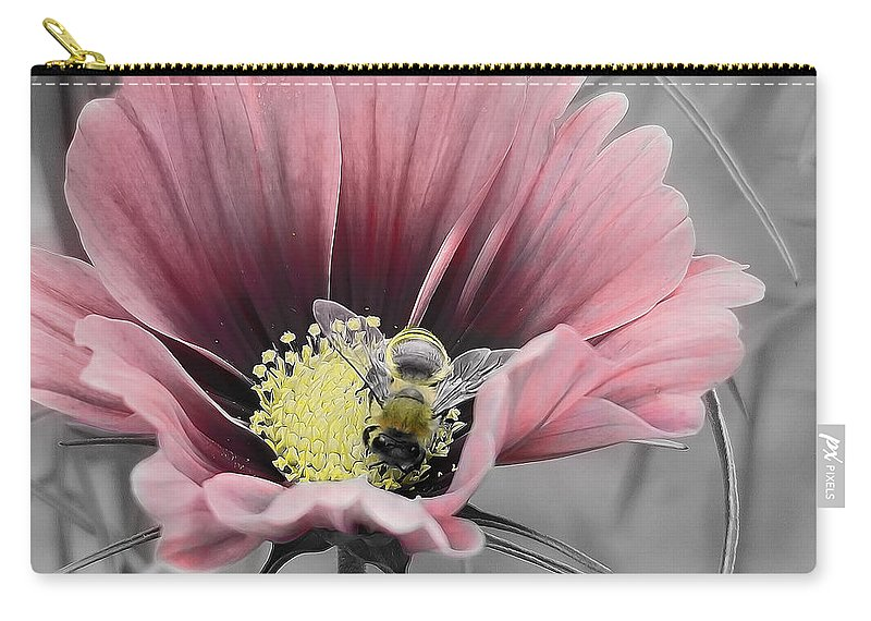 Nature Carry-all Pouch featuring the photograph Bizzybee by Janice Bajek