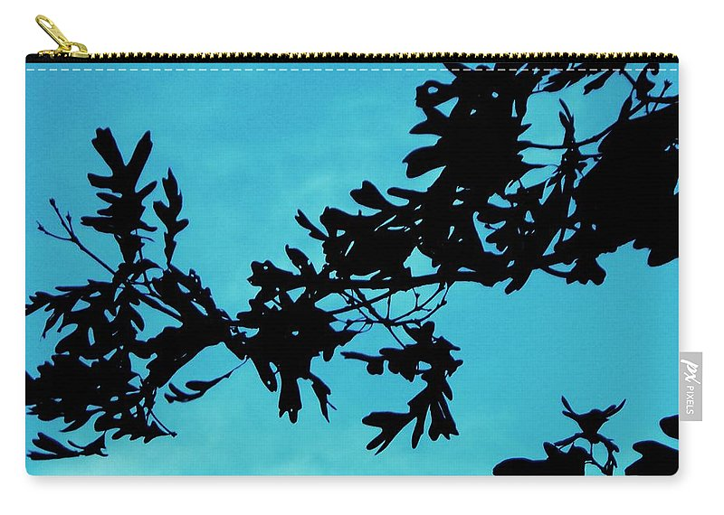 Silhouette Carry-all Pouch featuring the painting Black And Blue Silhouette by Eric Schiabor