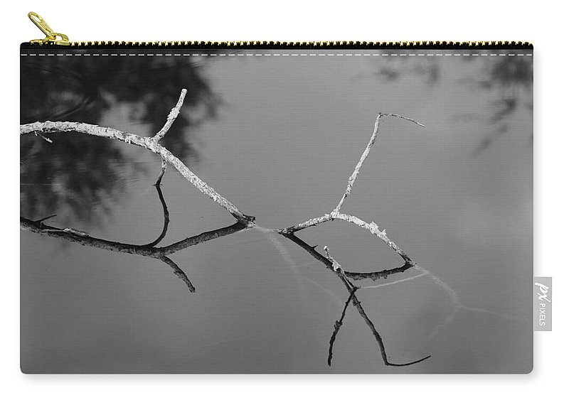 Black And White Carry-all Pouch featuring the photograph Black And White Bridge by Rob Hans
