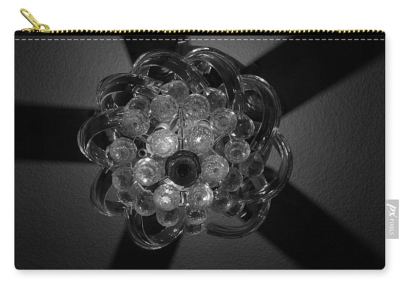 Fan Carry-all Pouch featuring the photograph Black And White Crystal by Rob Hans