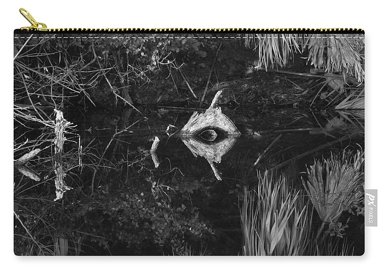 Cyclops Carry-all Pouch featuring the photograph Black And White Cyclops by Rob Hans