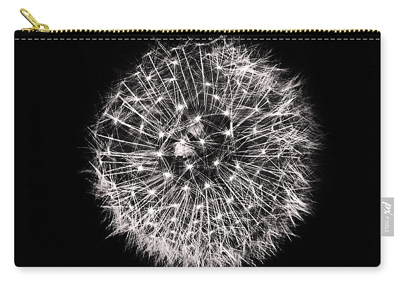 Dandelion Carry-all Pouch featuring the photograph Black And White Dreams by Martin Newman