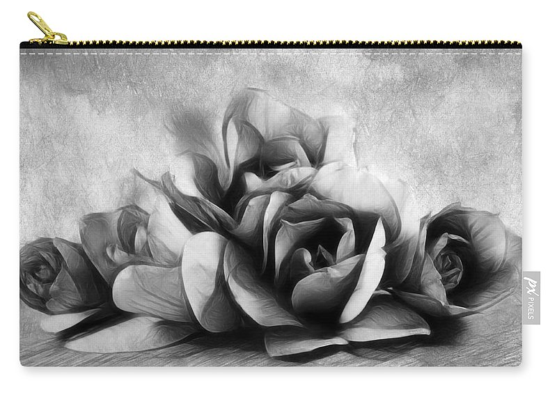 Magnolia Carry-all Pouch featuring the photograph Black And White Is Beautiful by Georgiana Romanovna