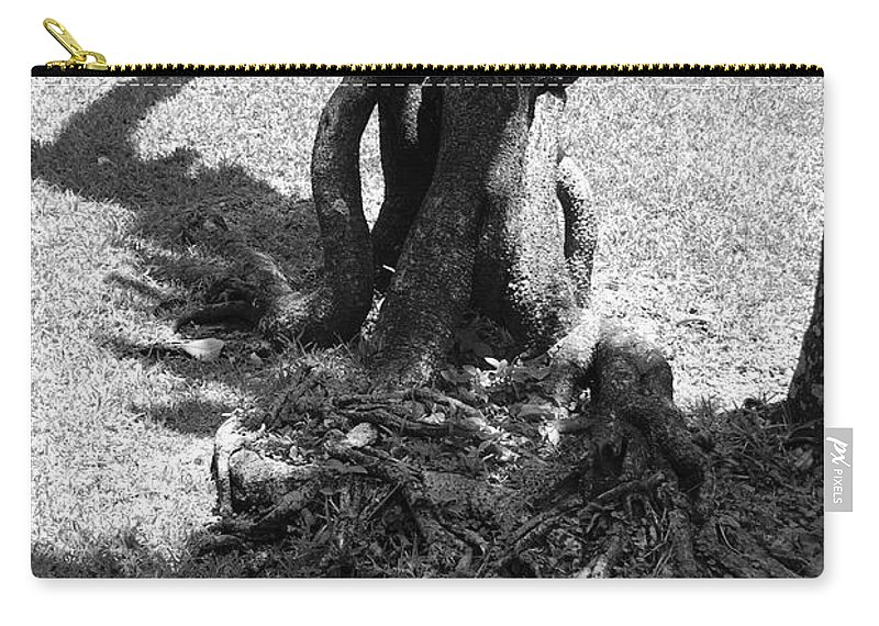 Black And White Carry-all Pouch featuring the photograph Black And White Roots by Rob Hans