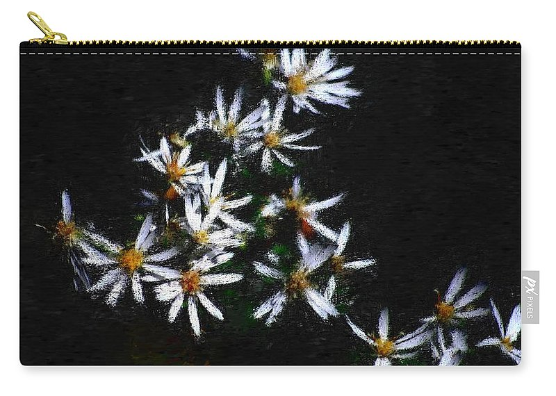 Digital Photograph Carry-all Pouch featuring the digital art Black And White Study II by David Lane