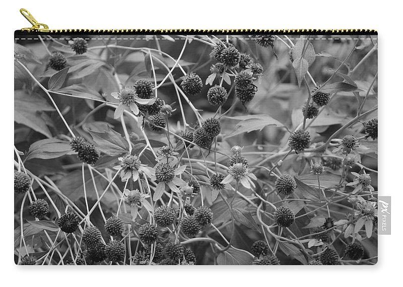 Black And White Carry-all Pouch featuring the photograph Black And White Sun Flowers by Rob Hans