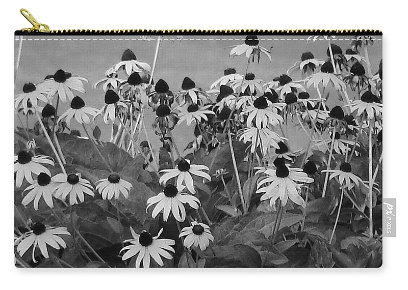 Carry-all Pouch featuring the photograph Black And White Susans by Luciana Seymour