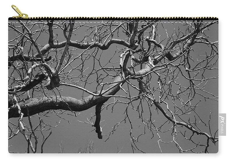 Sky Carry-all Pouch featuring the photograph Black And White Tree Branch by Rob Hans