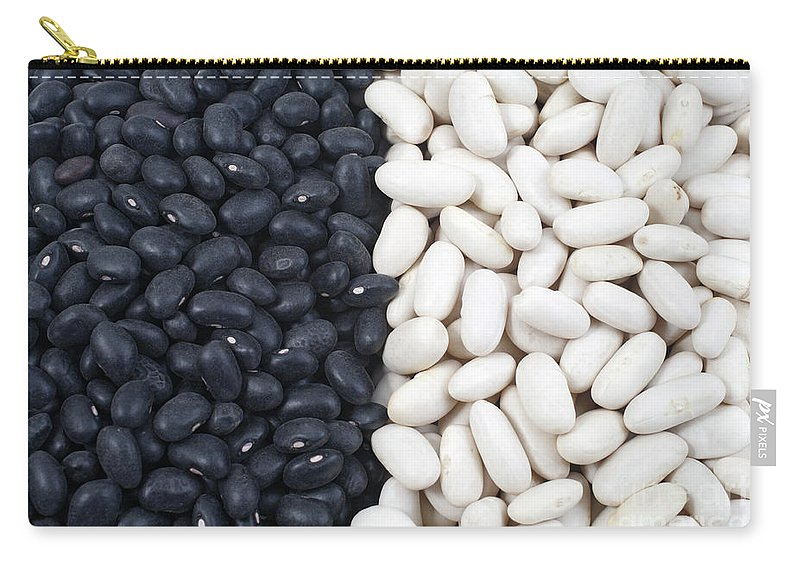 Black Beans Carry-all Pouch featuring the photograph Black Beans And White Beans by Gaspar Avila