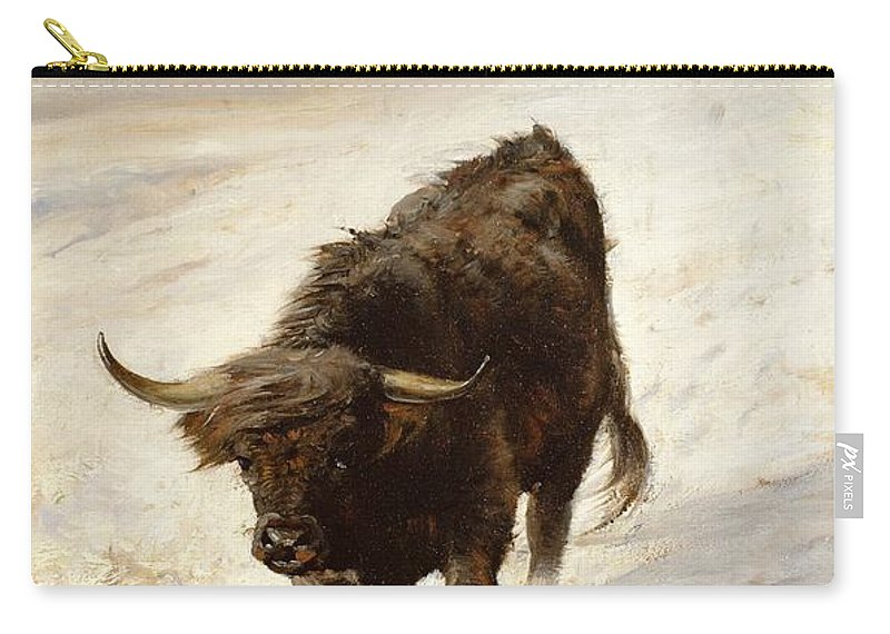 Highland Carry-all Pouch featuring the painting Black Beast Wanderer by Joseph Denovan Adam