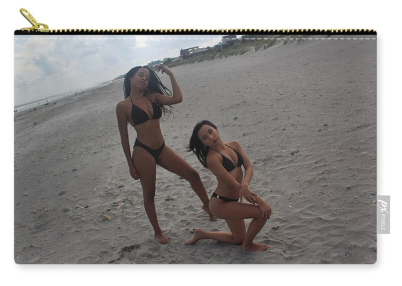Ebony Carry-all Pouch featuring the photograph Black Bikinis 14 by Christopher White