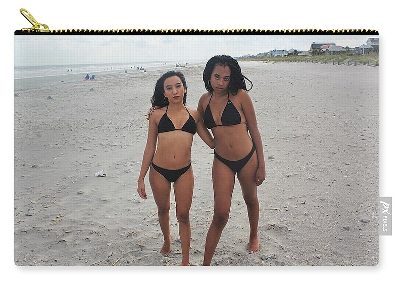 Ebony Carry-all Pouch featuring the photograph Black Bikinis 22 by Christopher White
