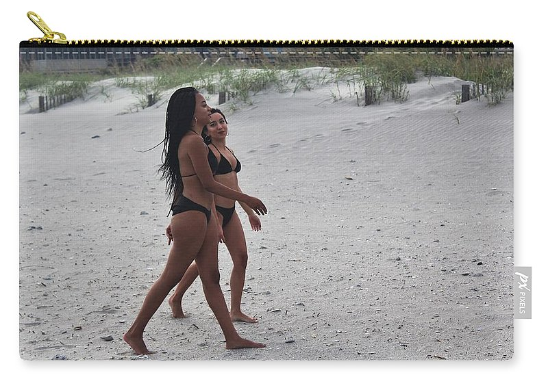 Ebony Carry-all Pouch featuring the photograph Black Bikinis 27 by Christopher White