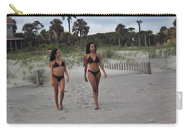 Ebony Carry-all Pouch featuring the photograph Black Bikinis 28 by Christopher White