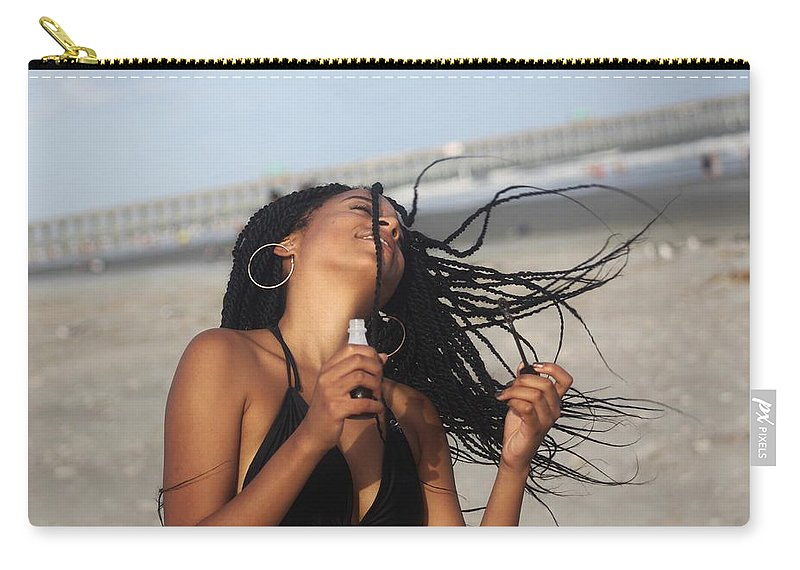 Ebony Carry-all Pouch featuring the photograph Black Bikinis 54 by Christopher White