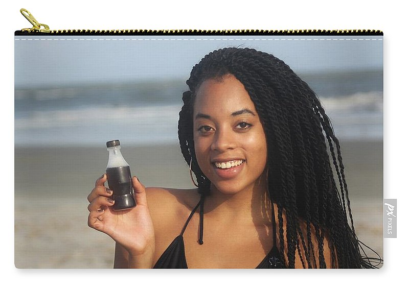 Ebony Carry-all Pouch featuring the photograph Black Bikinis 58 by Christopher White