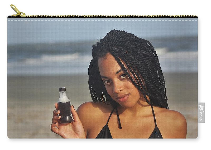 Ebony Carry-all Pouch featuring the photograph Black Bikinis 59 by Christopher White