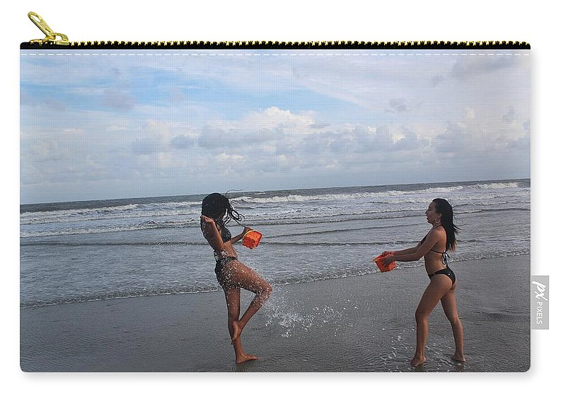 Ebony Carry-all Pouch featuring the photograph Black Bikinis 62 by Christopher White