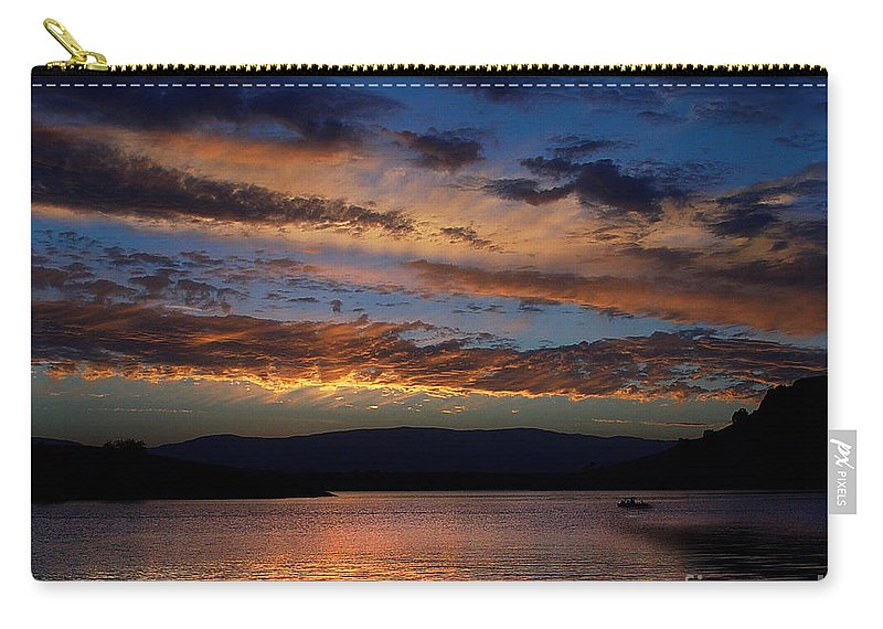 Black Butte Sunset Carry-all Pouch featuring the photograph Black Butte Sunset by Peter Piatt
