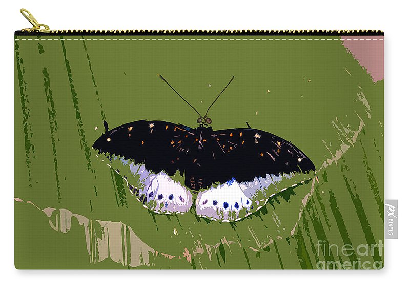 Butterfly Carry-all Pouch featuring the photograph Black Butterfly by David Lee Thompson