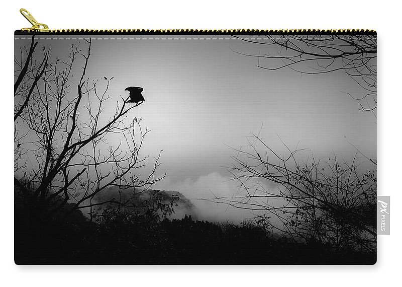Black Carry-all Pouch featuring the photograph Black Buzzard 8 by Teresa Mucha