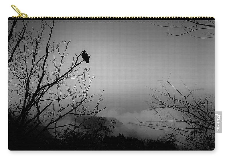 Black Carry-all Pouch featuring the photograph Black Buzzard 9 by Teresa Mucha