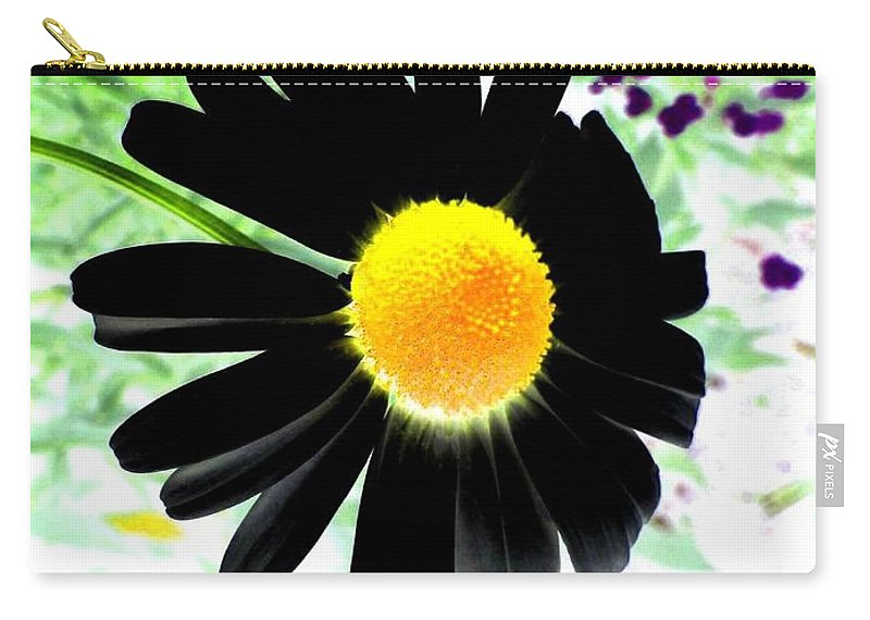 Photo Design Carry-all Pouch featuring the photograph Black Daisy by Will Borden