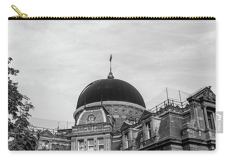 Carry-all Pouch featuring the photograph Black Dome by Alfaisal Mishkhas