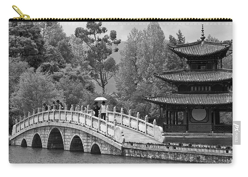 Asia Carry-all Pouch featuring the photograph Black Dragon Park by Michele Burgess