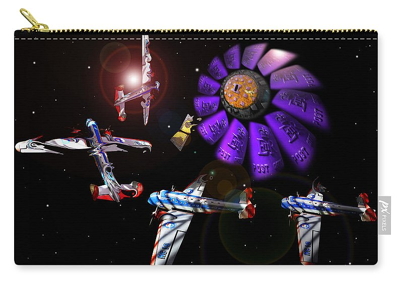 Scifi Carry-all Pouch featuring the digital art Black Dwarf by Charles Stuart