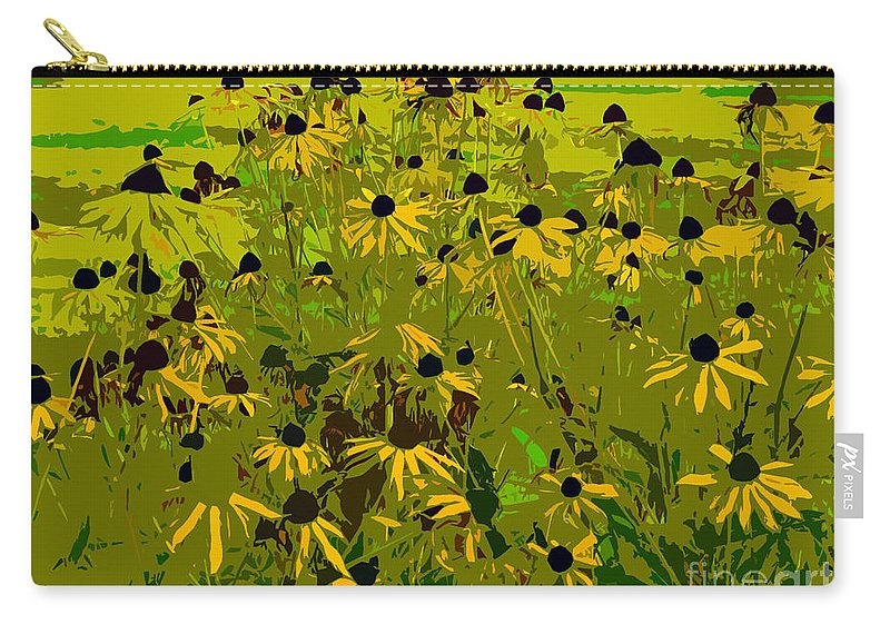 Black Eyed Susan Carry-all Pouch featuring the photograph Black Eyed Susan Work Number 21 by David Lee Thompson