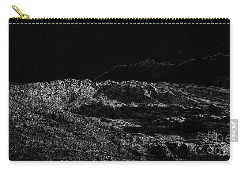 Black Ice Carry-all Pouch featuring the photograph Black Ice by Ron Bissett