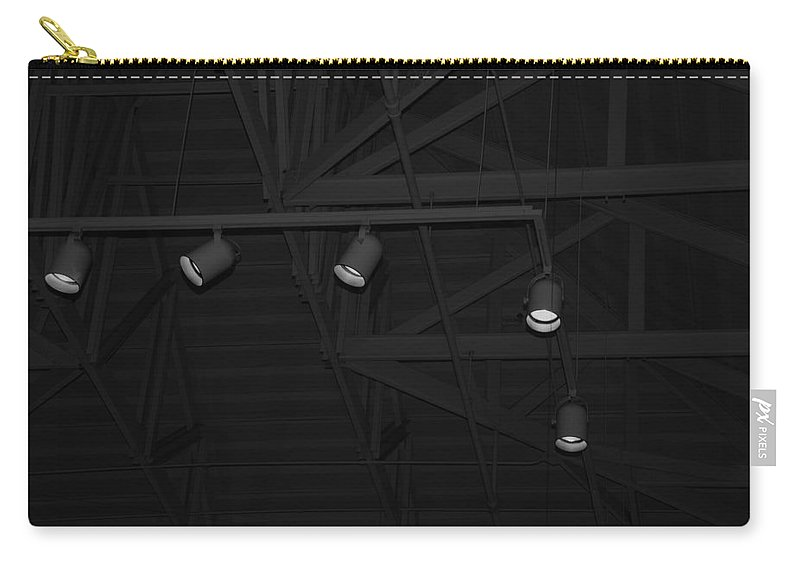 Black And White Carry-all Pouch featuring the photograph Black Lights by Rob Hans