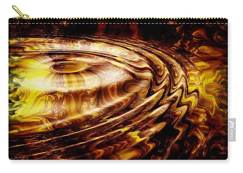 Gold Carry-all Pouch featuring the digital art Black Maple by Robert Orinski