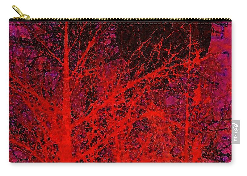 Digital Art Carry-all Pouch featuring the digital art Black Moon by Richard Rizzo