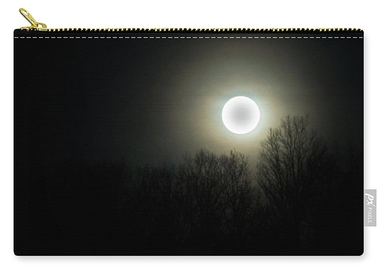 Black Carry-all Pouch featuring the photograph Black Of The Moon by Douglas Barnett