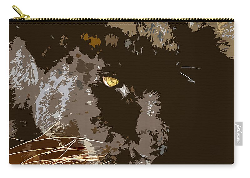 Black Panther Carry-all Pouch featuring the painting Black Panther by David Lee Thompson