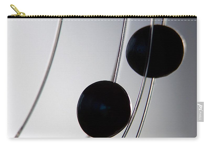 Abstract Carry-all Pouch featuring the photograph Black Pearls by Lauren Radke
