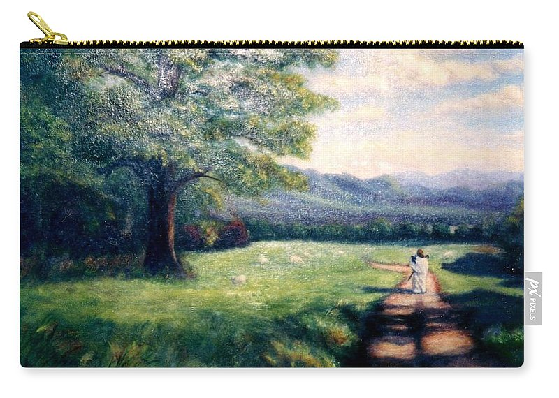 Christian Carry-all Pouch featuring the painting Black Sheep by Gail Kirtz