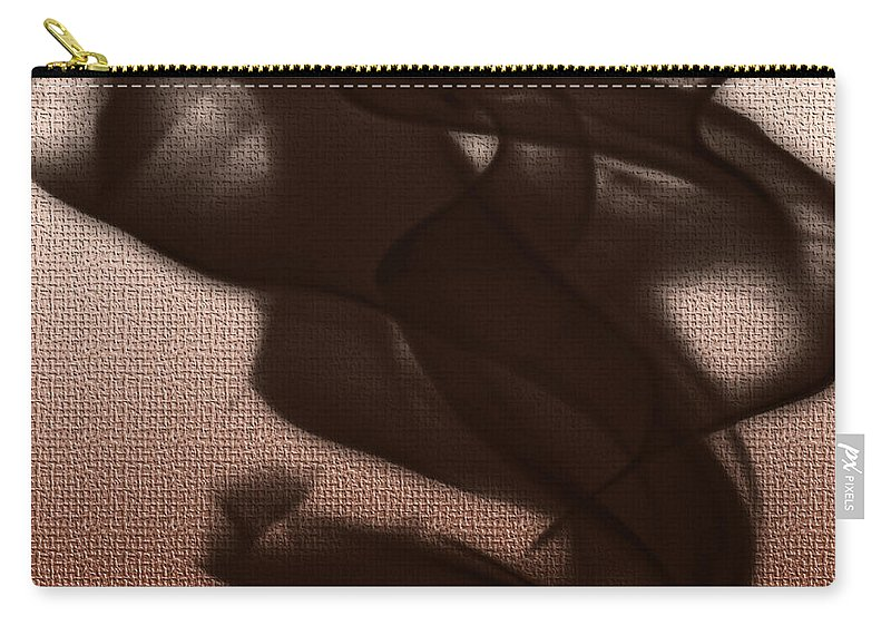 Clay Carry-all Pouch featuring the digital art Black Vector Apparition by Clayton Bruster