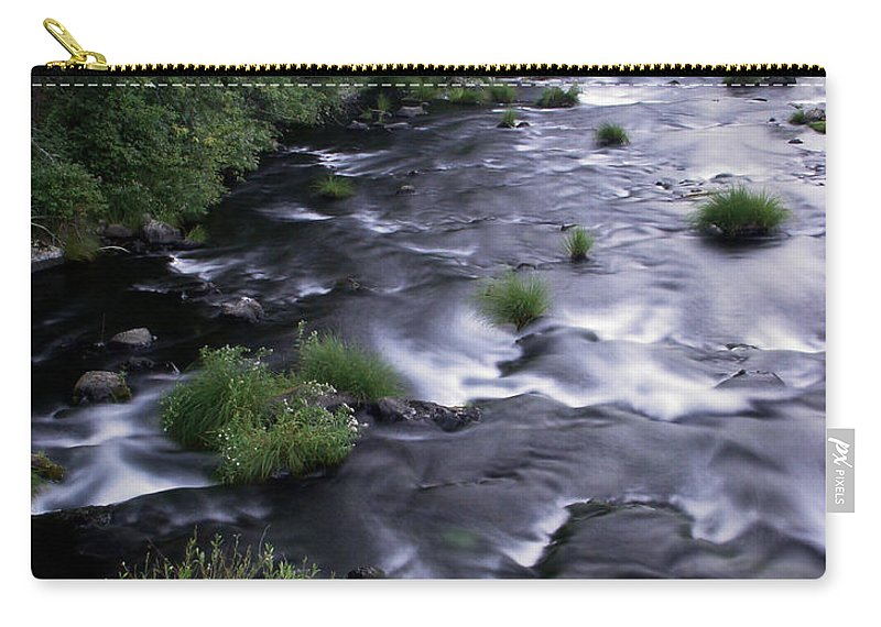 River Carry-all Pouch featuring the photograph Black Waters by Peter Piatt