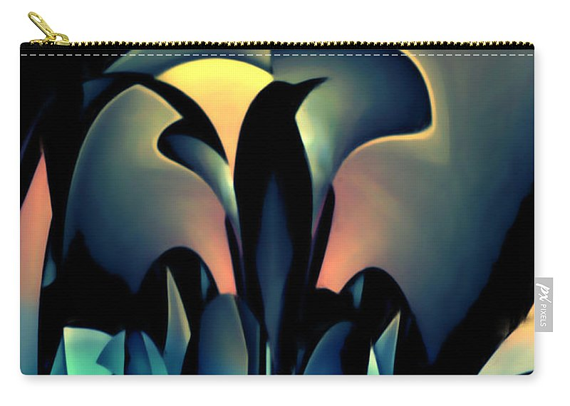 Blackbird Carry-all Pouch featuring the mixed media Blackbird by Barry King