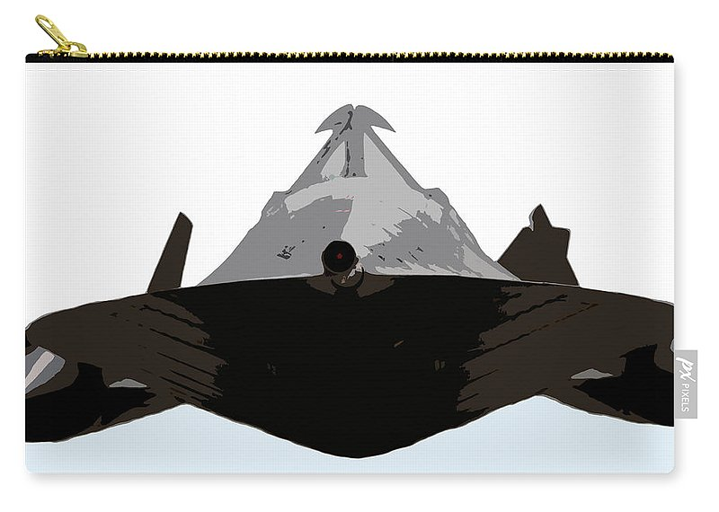 S 71 Blackbird Carry-all Pouch featuring the painting Blackbird by David Lee Thompson