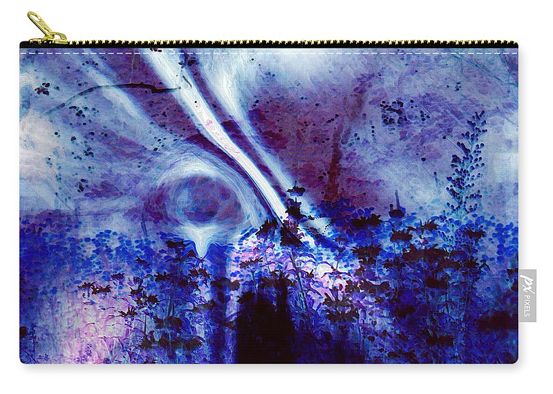 Abstracts Carry-all Pouch featuring the digital art Blackest Eyes by Linda Sannuti
