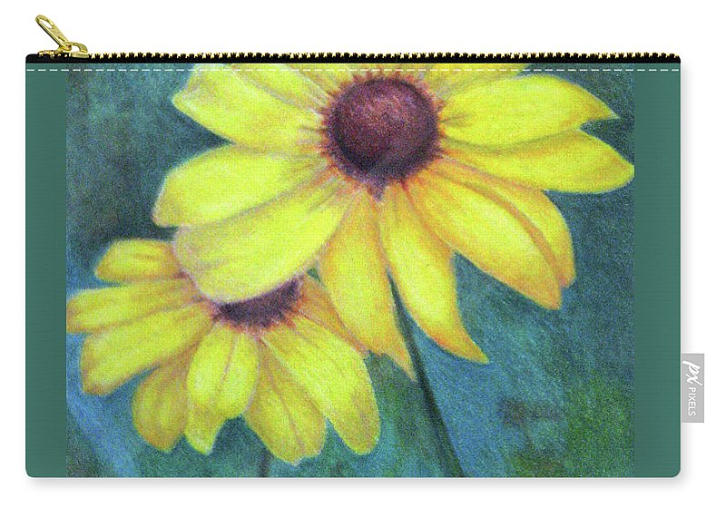 Fuqua - Artwork Carry-all Pouch featuring the drawing Blackeyed Susan by Beverly Fuqua