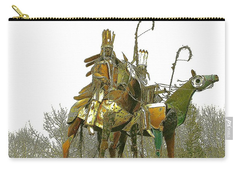 Native American Carry-all Pouch featuring the photograph Blackfeet Wariors by Nelson Strong
