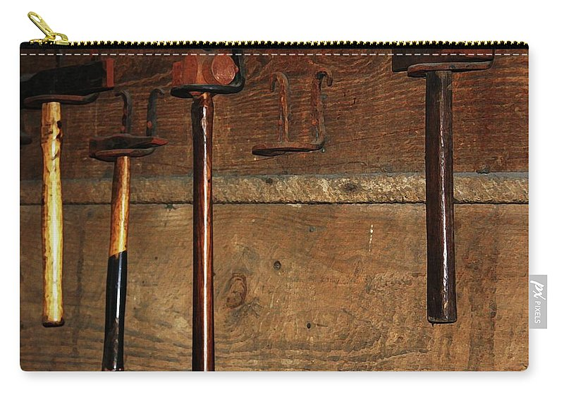 Blacksmith Photographs Carry-all Pouch featuring the photograph Blacksmith Tools by Kim Henderson