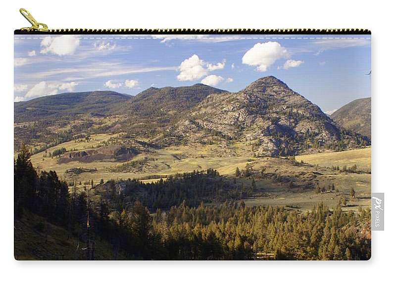 Yellowstone National Park Carry-all Pouch featuring the photograph Blacktail Road Landscape by Marty Koch