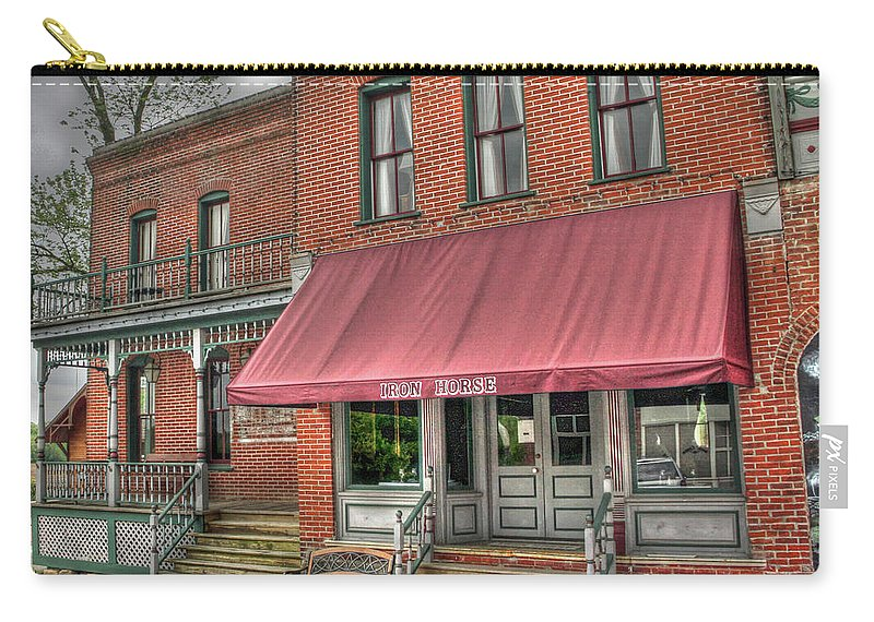 Business Carry-all Pouch featuring the photograph Blackwater Iron Horse by Douglas Settle