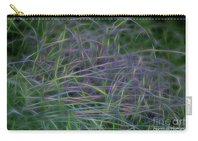 Neon Carry-all Pouch featuring the photograph Blades Of Color by Carolyn Truchon